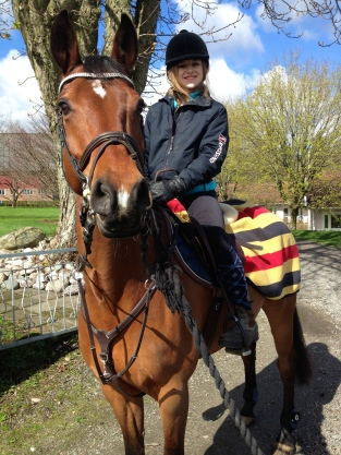 Riding a friends horse in Sweden