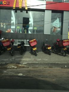 Mc Donalds delivers here!
