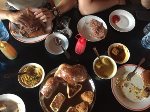 A typical Sri Lankan breakfast my friends and I devoured after our long hike to the summit of Sigiriya.