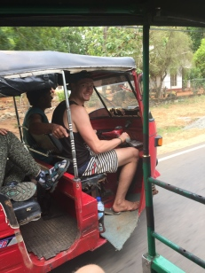 Lucky Chris got to drive a tuktuk!