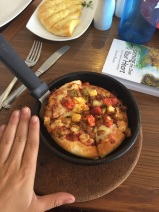 """Pizza Hut in Sri Lanka - the """"small"""" here is defiantly a lot different than back in the states!"""