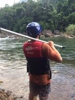Stu ready to take on the rapids